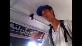 Charlero cantando Rap en Buseta Avda. Bolivar Valencia Venezuela