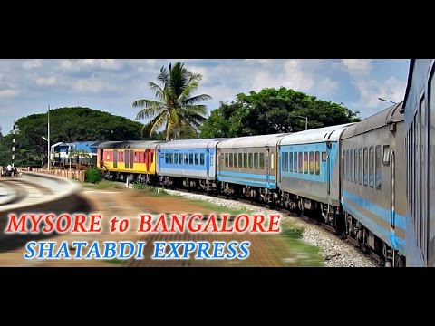 MYSORE to BANGALORE : The SHATABDI Experience (INDIAN RAILWAYS)