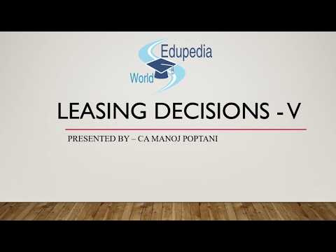Strategic Financial Management | Leasing Decision | CA Final Questions (asked)  | Part 5