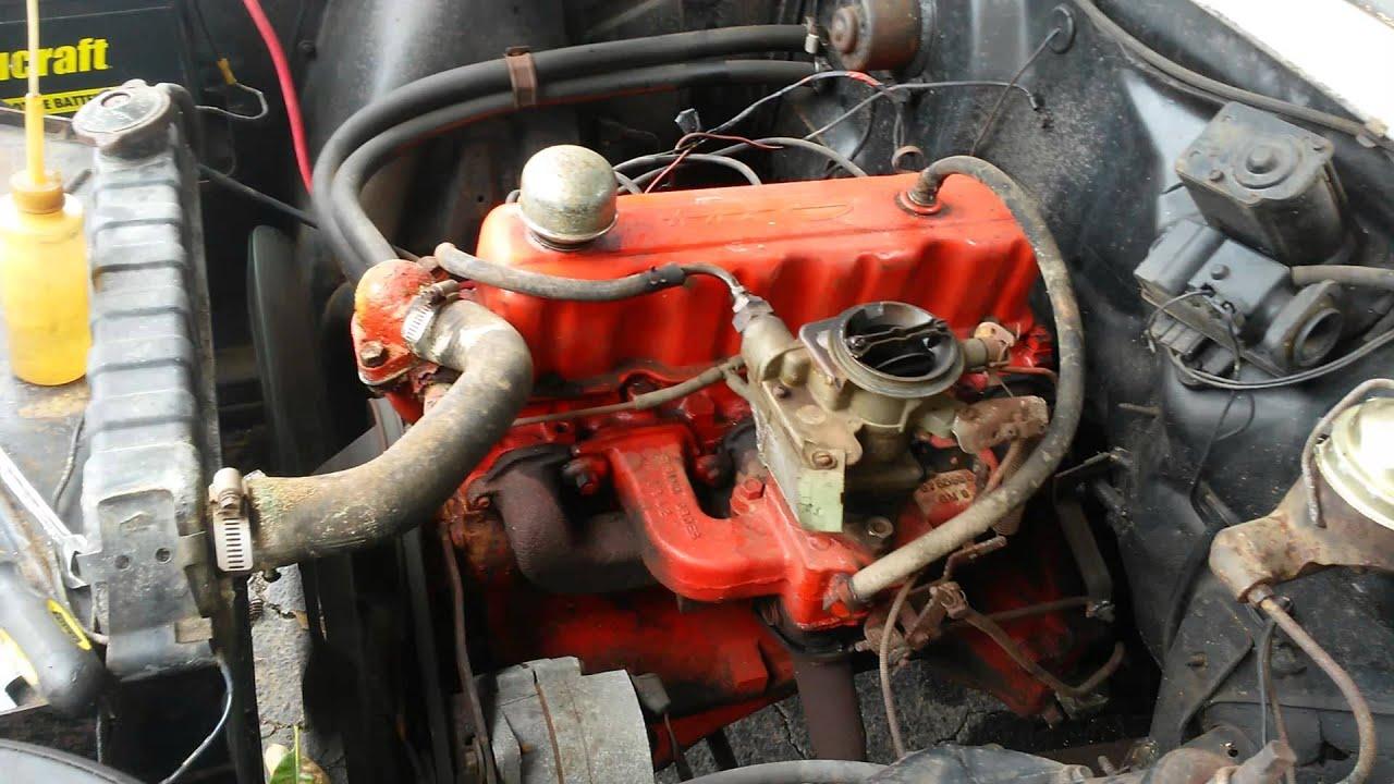 1963 Nova 4 Cylinder running! - YouTube