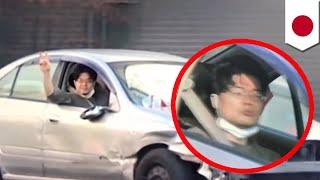 市街地で警察と約1時間のカーチェイス 暴走男逮捕 在間亮平 検索動画 20