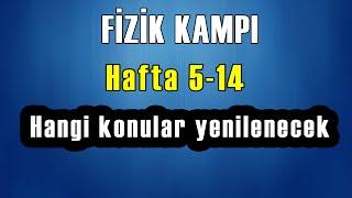 FİZİK KAMPI  Rehberlik  HAFTA 5 - 14