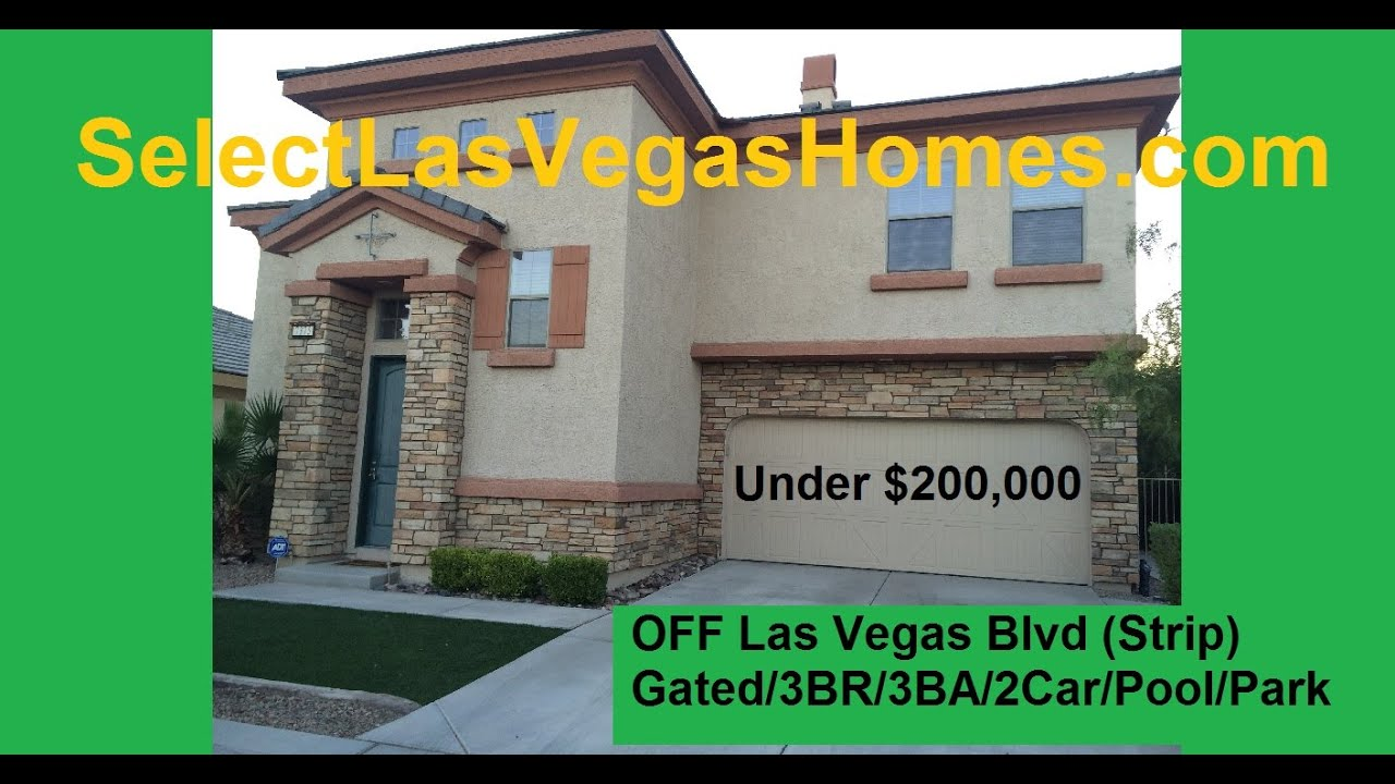 Cute las vegas blvd home for sale under 200 000 by strip for Houses under 200000