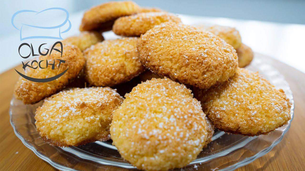 Kokos Kekse mit nur 3 Zutaten - Super einfach
