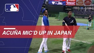 Acuna Jr. sings and dances while mic'd up in Japan