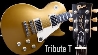 Thicker Fretboard = Thicker Tone? 2017 Gibson Les Paul Tribute T Satin Gold Top Studio | Review ギブソン 検索動画 30
