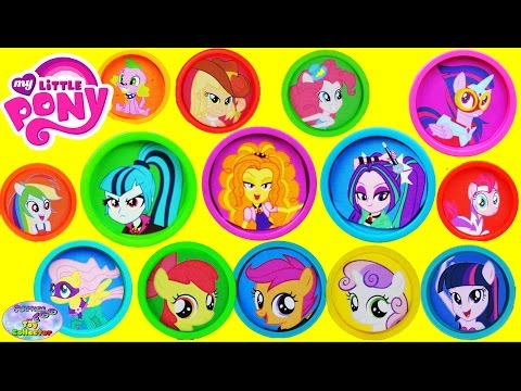 My Little Pony Equestria Girls Play Doh Dazzlings Surprise Cans Surprise Egg and Toy Collector SETC