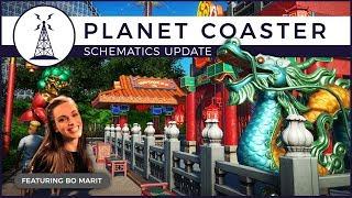 Planet Coaster - World's Fair Pack Talk with Bo Marit | Schematics Update