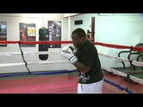 Fullback Mike Tolbert and Defensive Back Paul Oliver use Boxing training to get in game shape