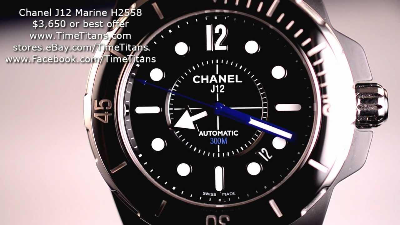 10d6c3fd8e0c5 Chanel J12 Marine H2558 42MM Automatic Black Ceramic 300M Rubber - YouTube