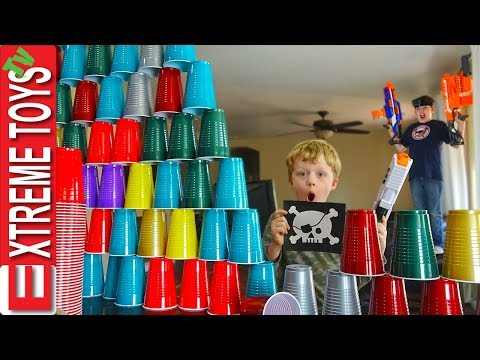 Sneak Attack Squad Special Forces! Nerf Blaster Obstacle Course.