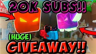 20,000 SUBSCRIBERS!! 🎉 SECRET PET GIVEAWAY!! (Roblox Bubble Gum Simulator)