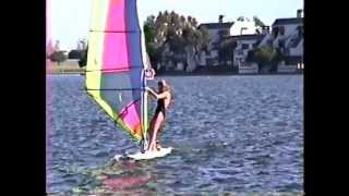 learning windsurfing in Foster City, California