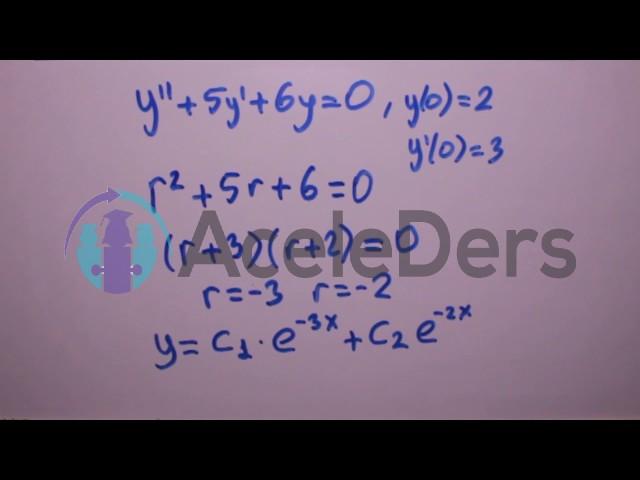 Diferansiyel denklemler (2. derece) örnek soru çözümü