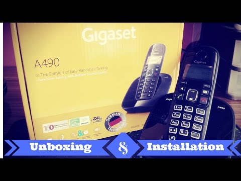 Gigaset A490 Cordless Landline Phone Unboxing & setup
