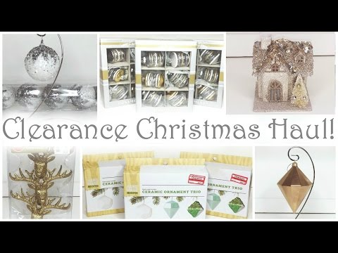 Clearance Christmas Haul ♡ Part 1 ♡ Ornaments