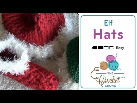 How To Loom Knit Elf Santa Hats For Babies Youtube