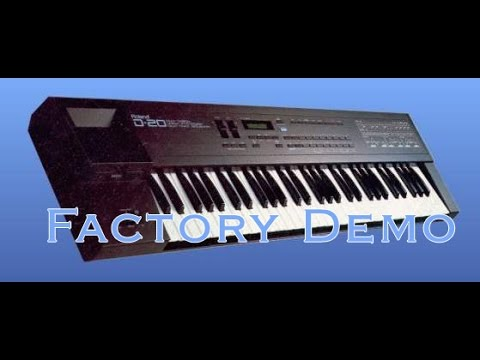Roland D20 demo FACTORY SOUND - vintage synthesizer