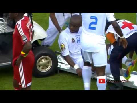 D.R. Congo's player get hit with the medical cart at Africa Cup of Nations