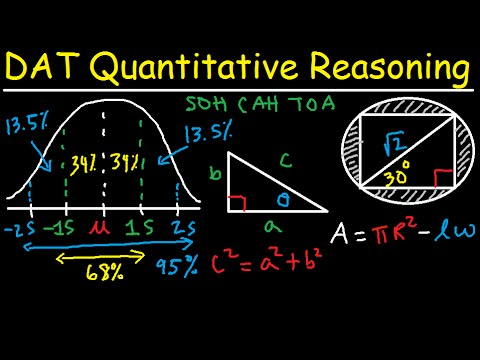 DAT Math Quantitative Reasoning QR Study Guide Review Prep - Formulas & Practice Questions