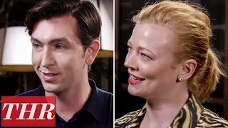 Nicholas Braun & Sarah Snook on Success of 'Succession,' Its Complexity & More! | Emmy Noms Night