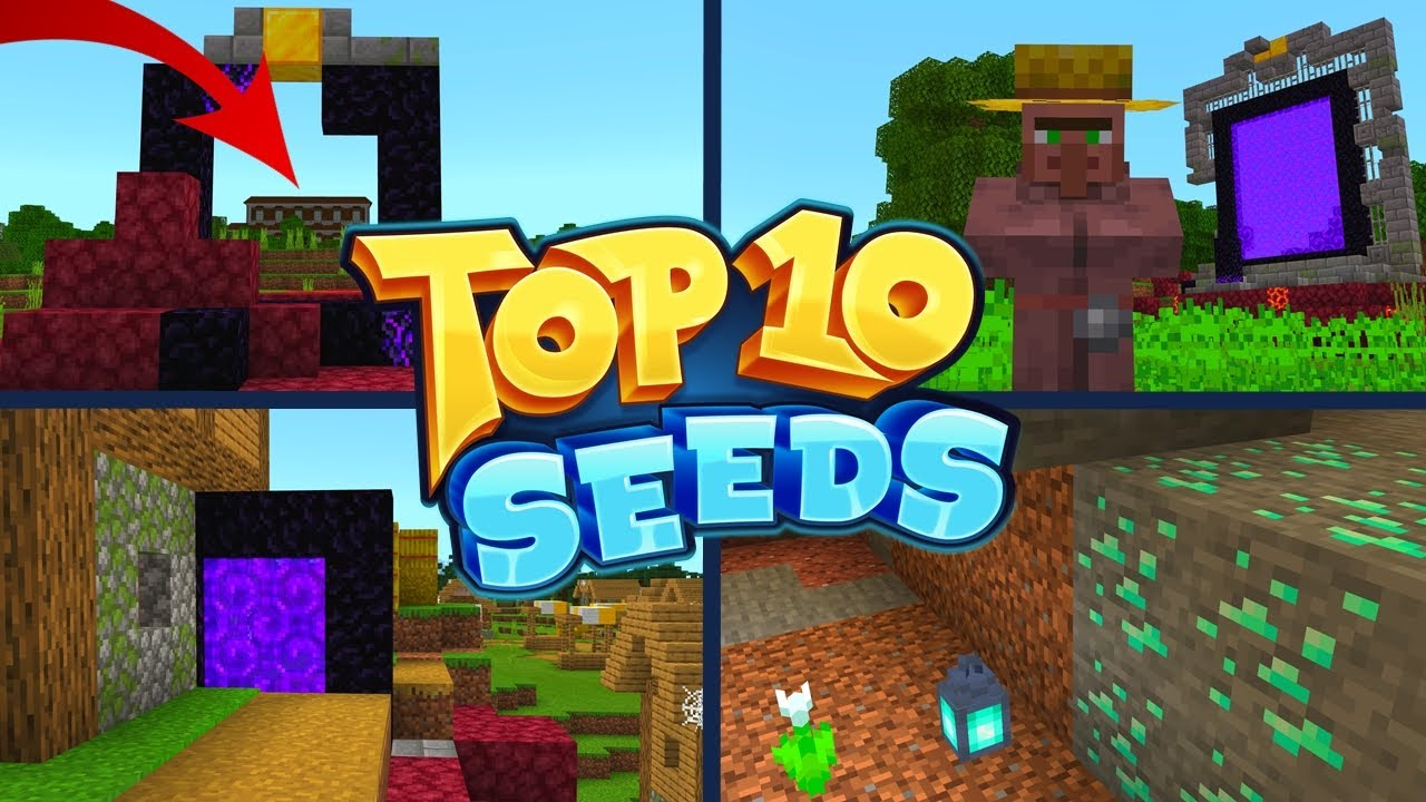 Top 10 Best New Seeds For Minecraft 1 16 Nether Update Pocket Edition Xbox Ps4 Switch W10 Youtube