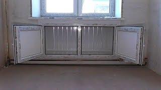 Ниша - холодильник в современном исполнении! Не выбрасывайте остатки панелей и подоконников.