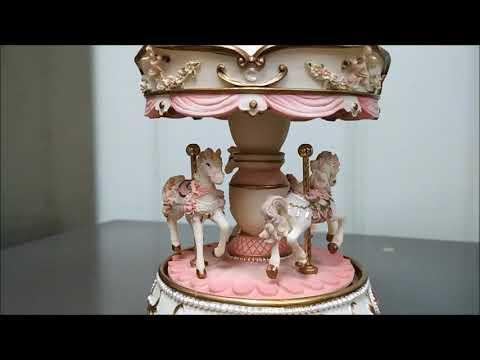 Horses Carousel Music Box CS0274 (PINK)