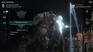 Middle-earth: Shadow of War Siege! Dark Bastion Fortress Assault