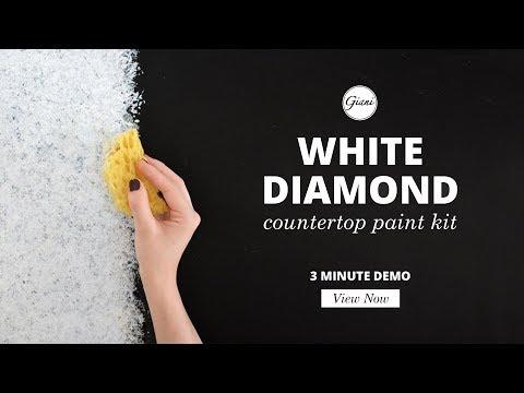 White Diamond (3 min demo) - Giani Countertop Paint