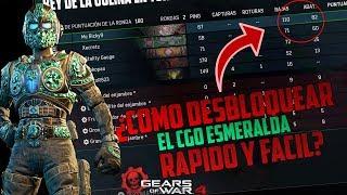 Gears of war 4 | *Truco* para DESBLOQUEAR el CGO ESMERALDA RAPIDO Y FACIL *1000 KILLS POR DIA*