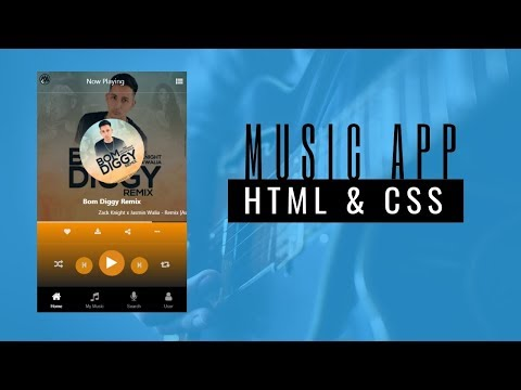 How To Make Music App Design Using HTML And CSS Bootstrap | HTML CSS Tutorial