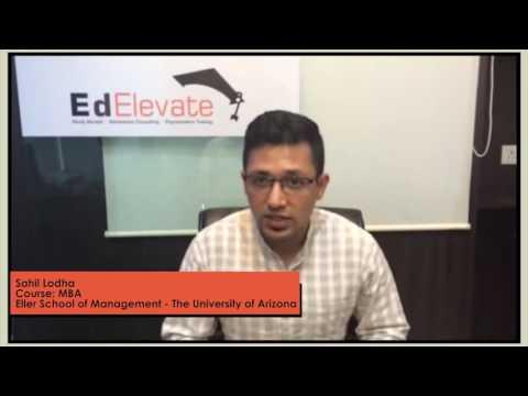 Success Story  Sahil 100% Scholarship MBA Eller College of Management