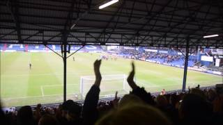 Bradford City fans at Oldham.