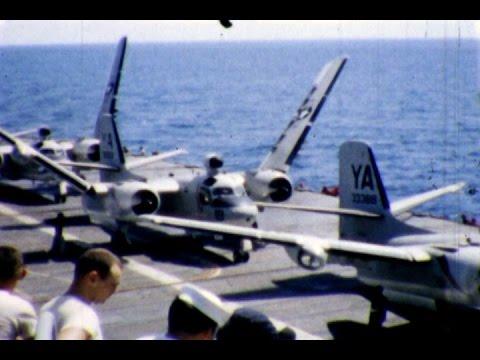 SUBMARINE HUNTER, USS PHILIPPINE SEA CV-47, GRUMMAN S-2 TRACKER