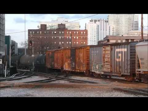 Trains at 16th Street Tower, Chicago: March, April & May 2013
