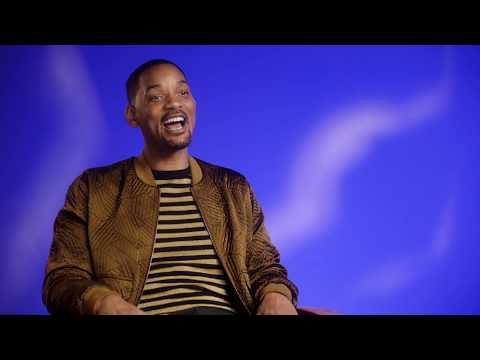"ALADDIN ""Genie"" Will Smith Behind The Scenes Interview"