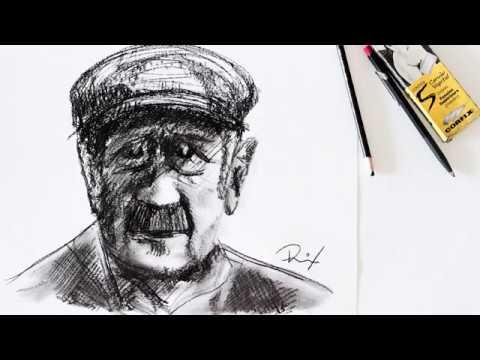 Paul Singer retrato à mão livre | Paul Singer freehand portrait