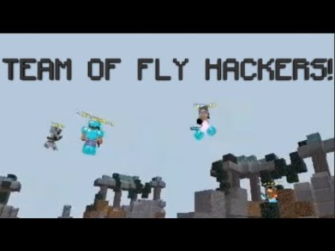A team of FLY HACKERS (MCPE Skywars)