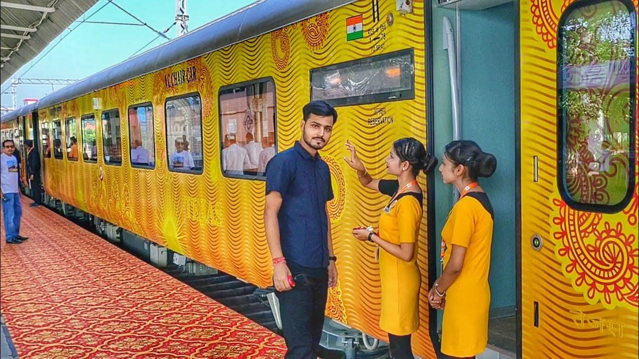 India 1st Private Train Lucknow Tejas Express full journey - YouTube