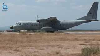 Avião da Força Aérea Portuguesa aterra em Castelo Branco