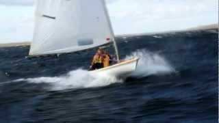 Яхта Луч (Laser). Сильный ветер. Extreme sailing.(Яхта