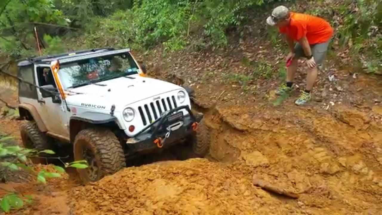 Jeep Jk Wrangler Rubicon On 37s Climbing At Barnwell