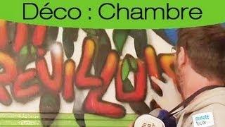 Déco : Faire un décor mural avec des lettrages en graff