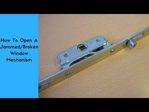 How To Open A Jammed/Broken Window Lock Mechansim