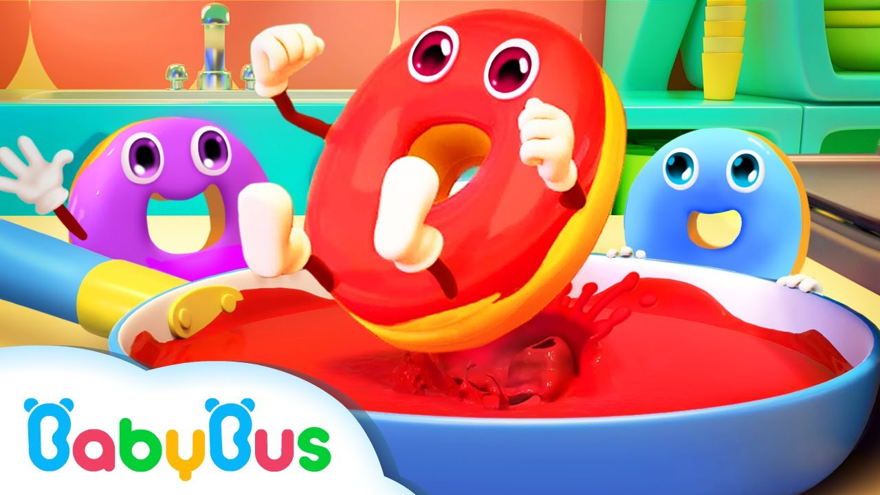 BabyBus Arabic | تعليم اللون | اغاني وكرتون للاطفال | اغاني الاطعمة | بيبي باص