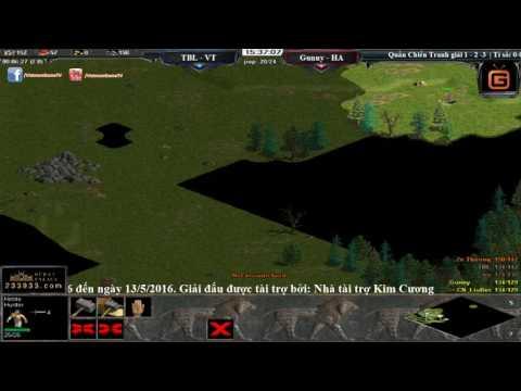 AOE Trung Việt 2016 Vòng Quần chiến | 22 Random  - Gunny, Hồng Anh vs Tiểu Bạch Long, VT Trận 1
