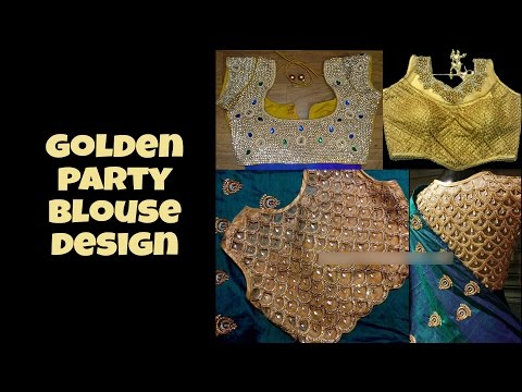 Gorgeous Golden  Party Blouse Design