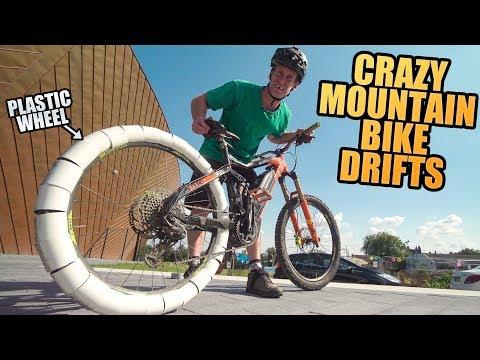 CRAZY MOUNTAIN BIKE DRIFTS - PLASTIC WHEEL MOD!!