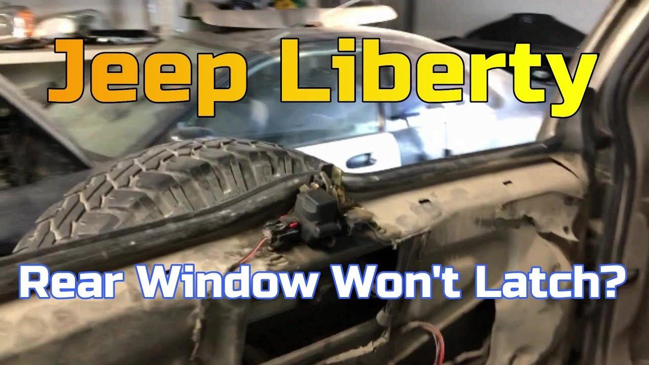 Jeep Liberty How To Fix Rear Window Latch Youtube